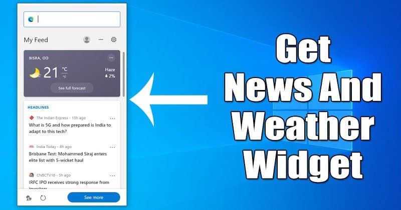How to Enable News & Weather Widget On Microsoft Edge