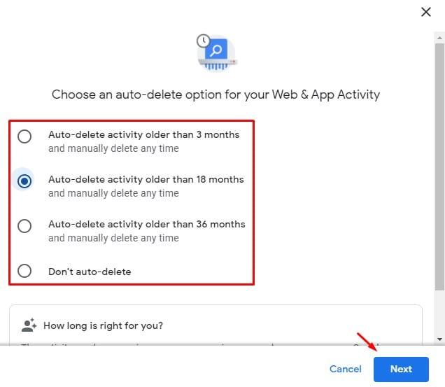 كيف تجعل متصفح جوجل يحذف جميع أنشطة التصفح تلقائيًا
