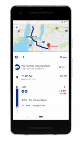 Google Maps payment feature