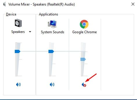 Click on the sound icon as shown below