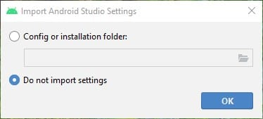 Select the 'Do not import settings'