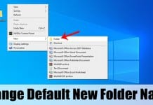 How to Change the Default New Folder Name in Windows 10 PC