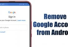 How to Remove Google Account from an Android Device