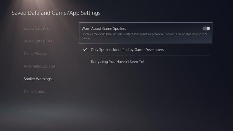 Avoid Spoilers in Games