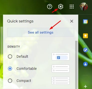 click on 'See all settings'