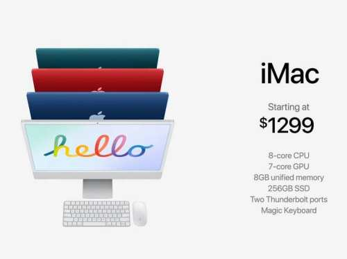 New iMacs with 7 Colourful Options