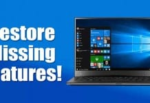 How to Restore Missing Features in Windows 10 PC