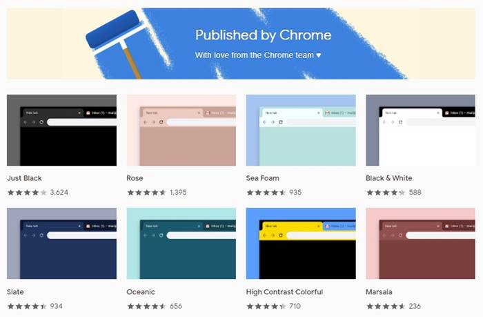 Themes from Chrome Team