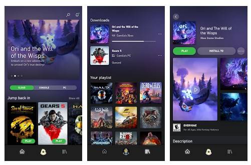 Using Xbox Game Pass App