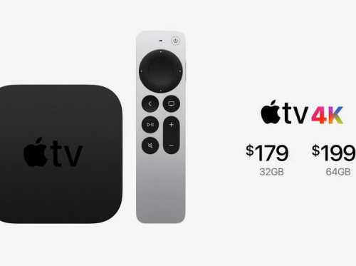 Apple TV 4K with a new processor, remote