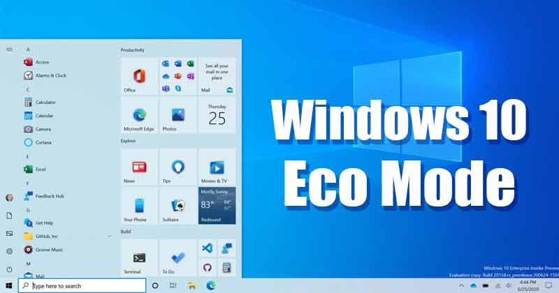 Windows 10 Eco Mode