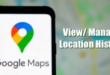 View and Manage Location History in Google Maps