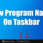 Show Program Names On Windows 10 Taskbar