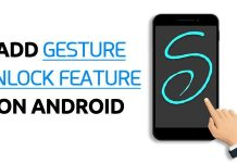 Add Gesture Unlock Feature On Android