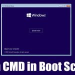 How to Open CMD (Command Prompt) at Boot Screen in Windows 10