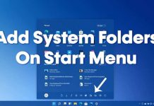 How to Add or Remove System Folders on Windows 11 Start Menu