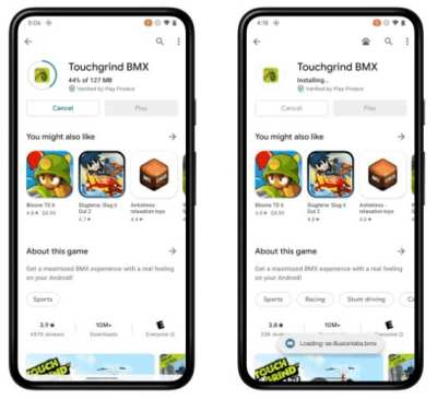 Android 12 new feature Play as you download