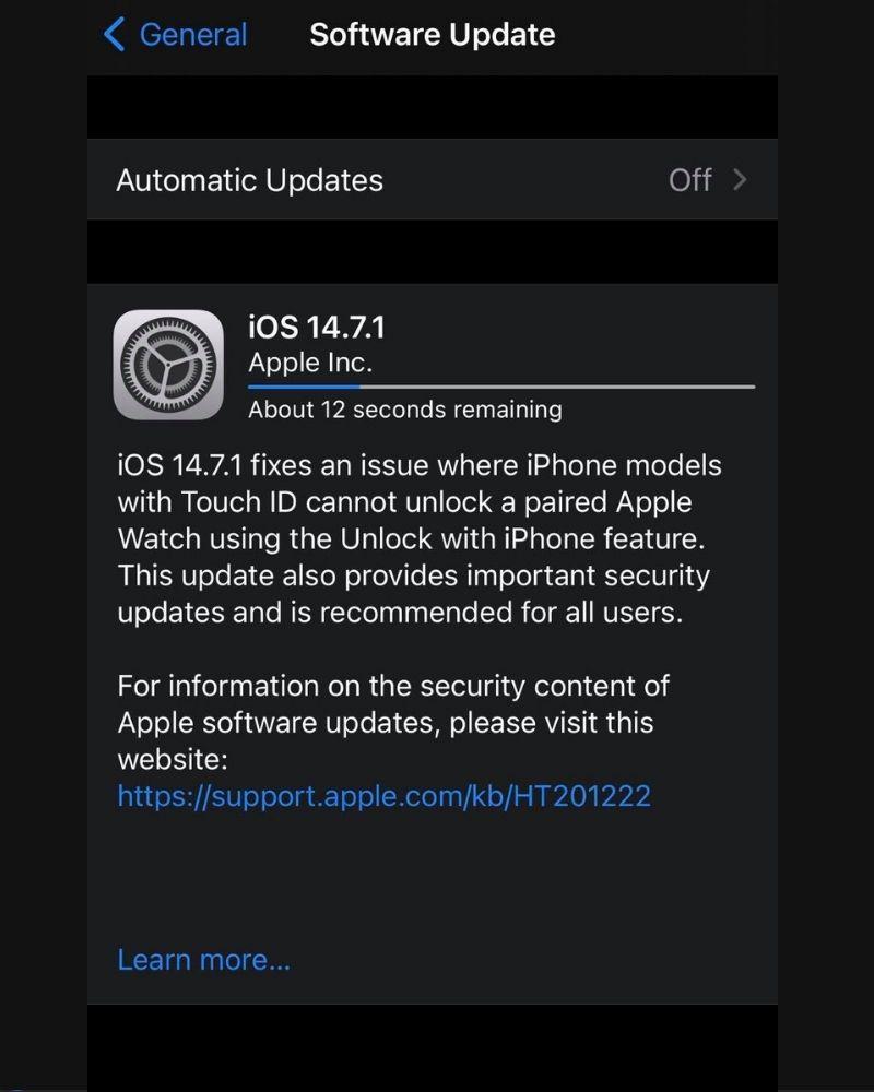 La actualización de iOS 14.7.1 trae soluciones de seguridad urgentes para dispositivos iOS