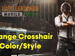 How to Change the Crosshair Color or Style in BGMI