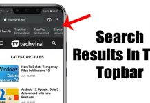 How to View Google Search Results in the Top Bar of Chrome