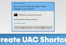How to Create Shortcut for User Account Control Settings in Windows 10