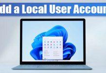 Add a Local User Account On Windows 11