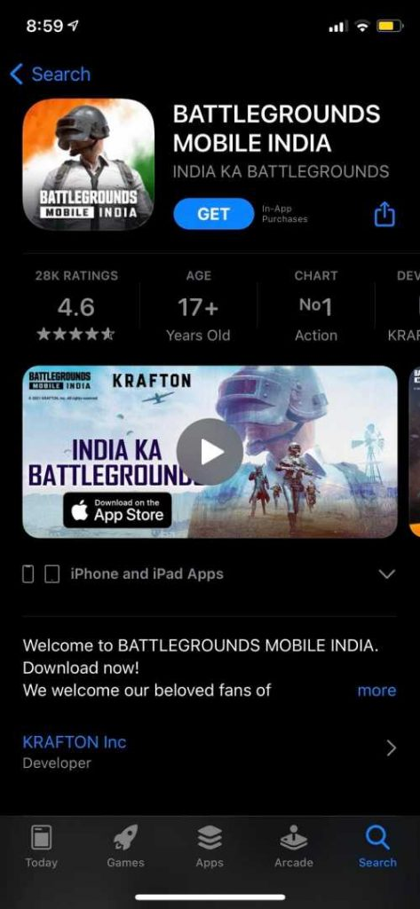 Get BGMI on iOS