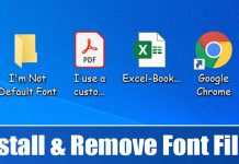 How to Install & Uninstall Font Files On Windows 10 & 11