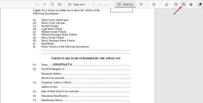 Saving PDF file in Edge