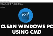How to Clean Your Windows PC using CMD