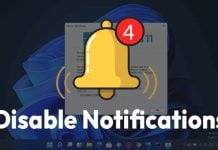 How to Disable Notifications On Windows 11