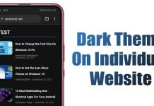 How to Enable or Disable Dark Theme on Per-Site Basis