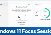 How to Enable & Use the new Focus Sessions in Windows 11