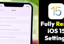 How to Fully Reset All Settings in iOS 15 (iPhone/iPad)