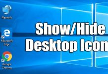 How to Hide & Show Specific Desktop Icons in Windows 10
