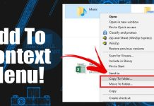 How to Add 'Copy To Folder' & 'Move To Folder' on Context Menu