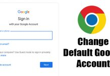 How to Change Default Google Account on Chrome Browser