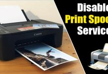 How to Disable Print Spooler Service on Windows 10
