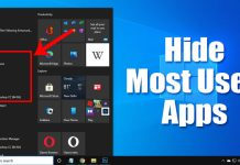 How to Hide Most Used Apps in the Windows 10 Start Menu