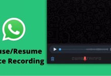 Pause or Resume Voice Recording on Whatsapp