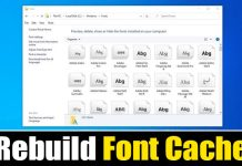 How to Rebuild the Font Cache in Windows 10/11