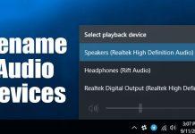 How to Rename Audio Devices on Windows 10
